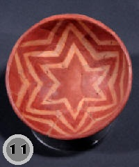 Dragoon Red on Brown bowl