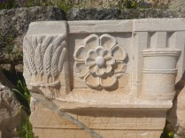 A stele at Eleusis. Note the ear of corns, one of the traditional offerings to Demeter