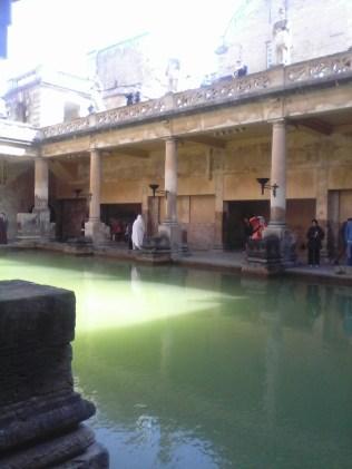 The Roman baths at Bath - the main pool