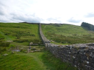 A milecastle on the Wall near Housesteads