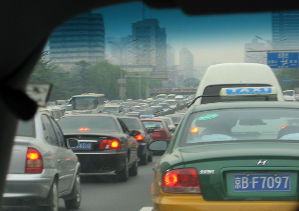 One corner of the world city: Beijing traffic
