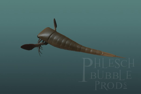 """This eurypterid (""""sea scorpion"""") is based on fossils we found in central Manitoba."""