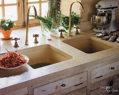 Kichen Marble Trough Sink-07