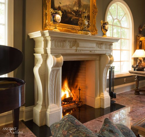 antique-limestone-stone-fireplace