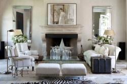 Limestone-fireplace-chimney-stone-antique-stove