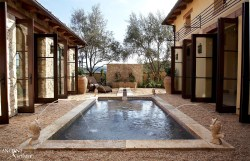 outdoor limestone pool coping