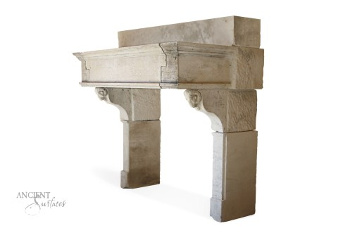 Antique-limestone-fireplace-carved