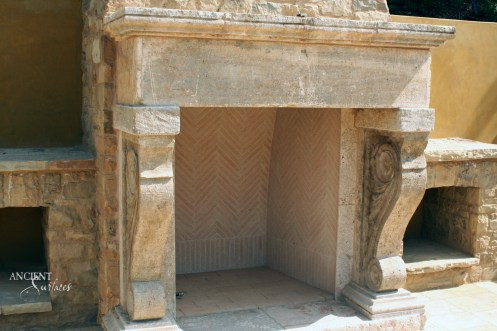 antique-outdoor-limestone-fireplace