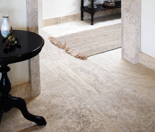 Antique Millennium Limestone Floors Paving the Entire Home