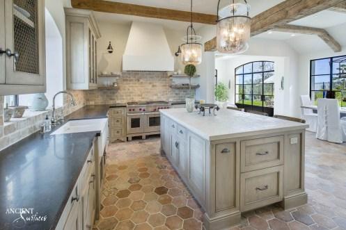 kitchen-counter-top-hexagonal-flooring-tiles
