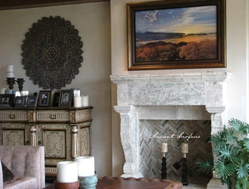 Limestone-fireplace-mantel-stone