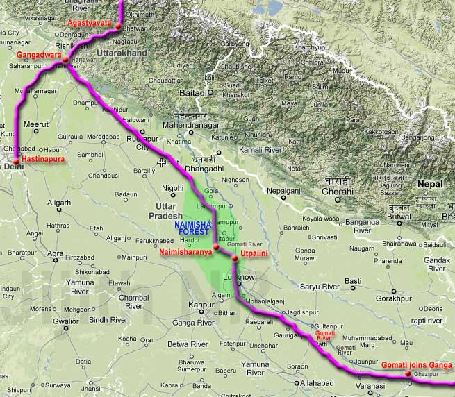 Arjuna's journey through Naimisharanya.jpg