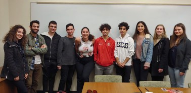 UC Davis Armenian Students Association members with the ANCA's Tereza Yerimyan.
