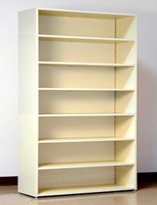 7 Tier 48 Wide Laminate Wood Open Shelf File Cabinet