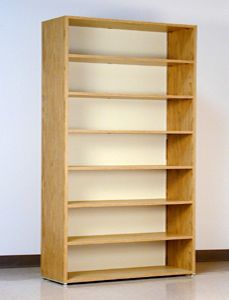 7 Tier 48 Wide Legal Size Laminate Wood Open Shelf