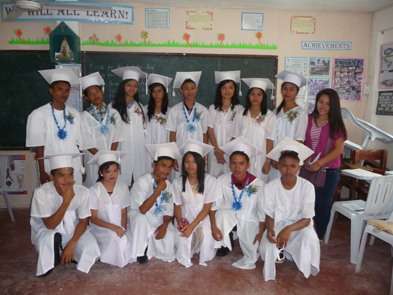 ANCOP scholars with the missionary nuns graduated with honors