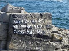"""""""Annie C. Maguire naufragò qui la vigilia di Natale del 1886"""""""