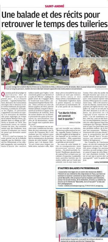 Article de la Provence - 4 décembre 2014