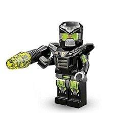 A Blacktron robot from the recent collectible minifgure range