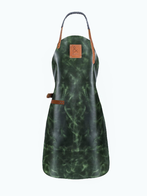 Damski fartuch skórzany zielony