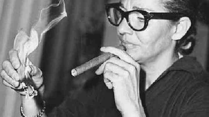 Chavela Vargas with cigar
