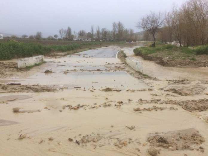 Cortes en carreteras por inundaciones Cádiz
