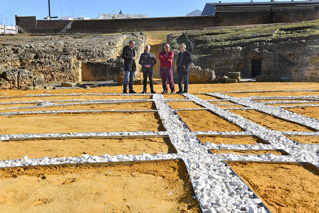 estructuras originales del anfiteatro romano de Carmona