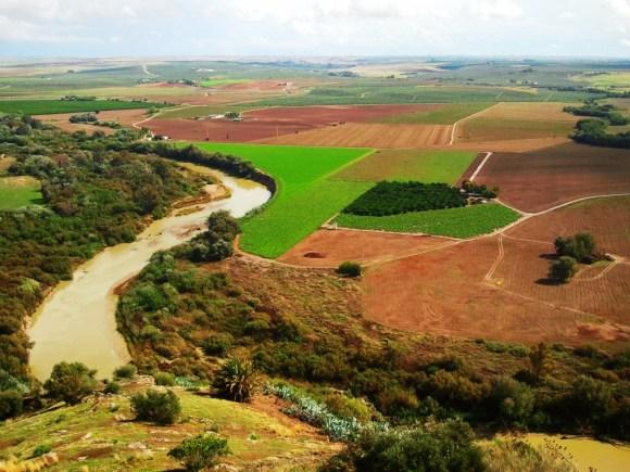 tour da Siviglia a Cordoba- Uno sguardo alla campiña andalusa e al Guadalquivir dal Castello di Almodovár del Río.