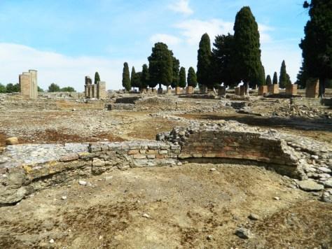 Cosa vedere ad Itálica - exedra