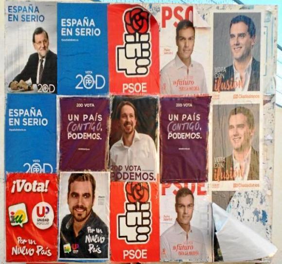 Poster elezioni elettorali per il 20D Andalusia