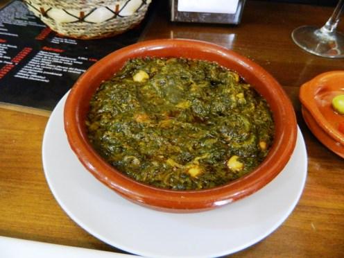 cosa mangiare andalusia espinacas con garbanzos