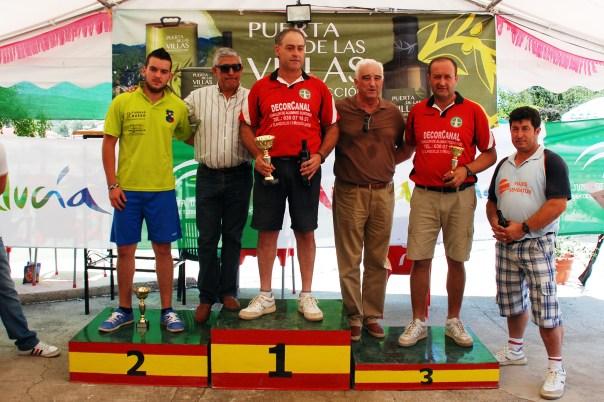 Podium primera categoria Campeonato España bolo andaluz montaña 2013