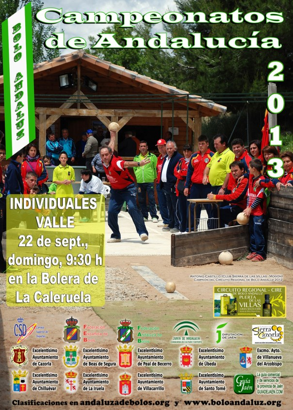 cartel campeonatos andalucia bolos andaluces copia reducida