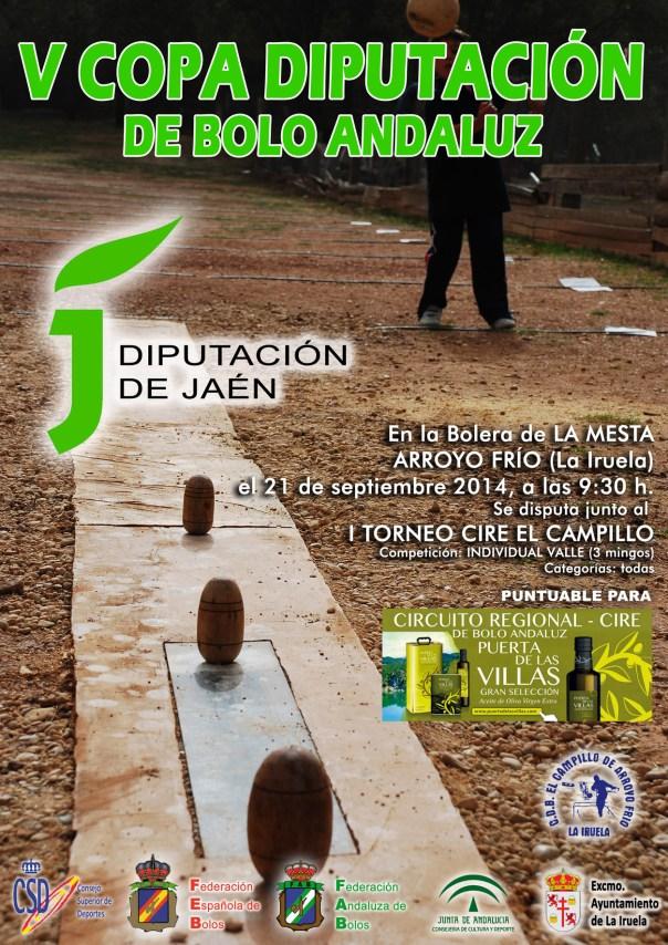 cartel copa Diputación de Bolo Andaluz de Jaén 2014 individual copia reducida