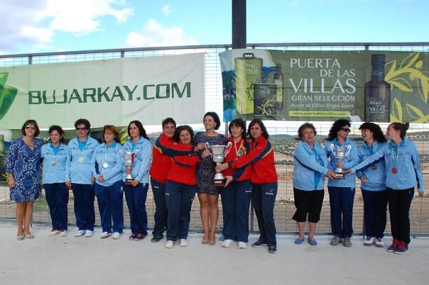 Podium-femenino-Nacional-Equipos-Bolo-Andaluz-2014