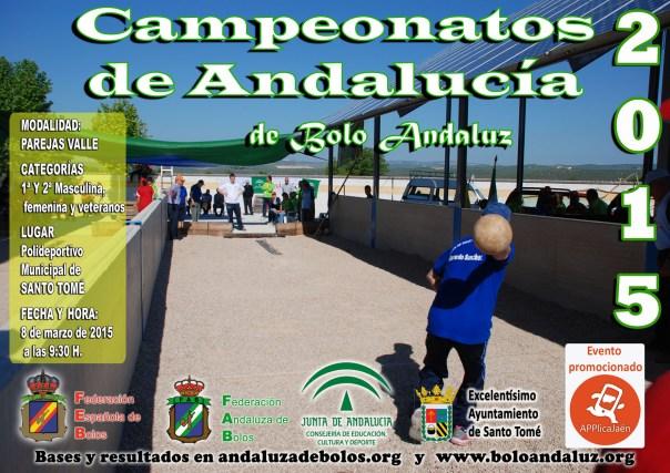 Cartel Campeoanto de Andalucía Equipos bolo andaluz copia reducida