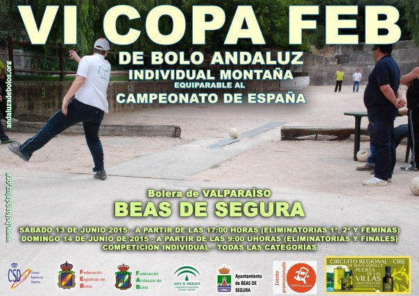 Cartel Copa FEB bolo andaluz montaña 2015 copia red