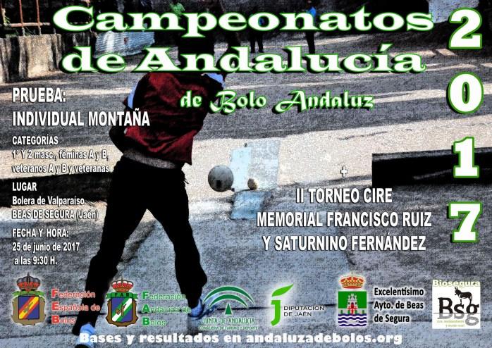 cartel campeonato andalucia montaña bolo andaluz red