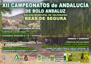 CARTEL CAMPEONATOS DE ANDALUCÍA DE BOLO ANDALUZ BEAS DE SEGURA RED