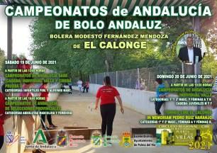 CARTEL CAMPEONATOS DE ANDALUCÍA DE BOLO ANDALUZ VALLE RED