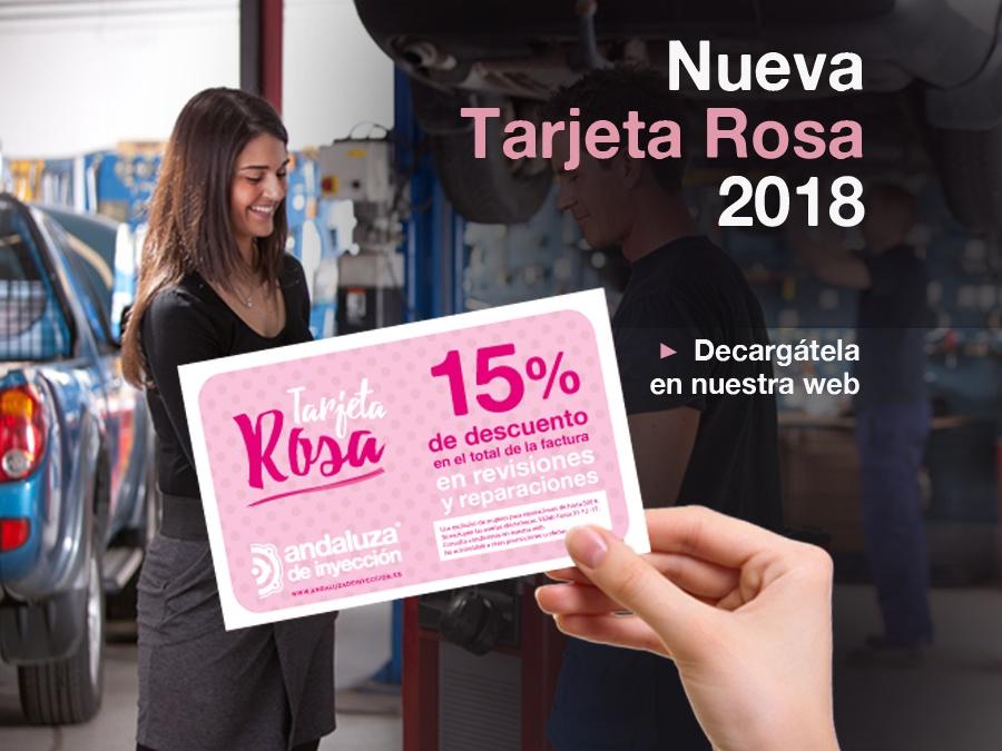 Tarjeta Rosa de la Mujer 2018