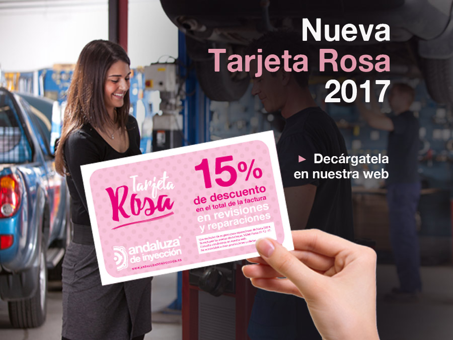 Tarjeta Rosa  de la mujer 2017