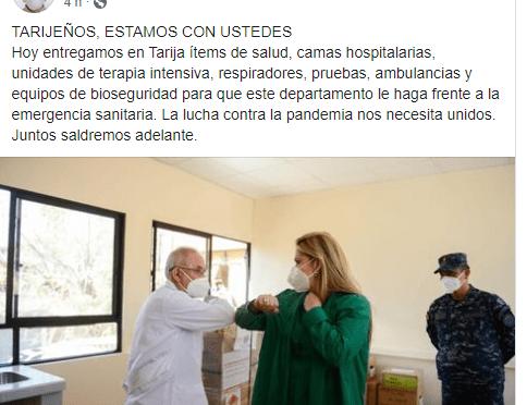 Mientras Añez armaba show en Tarija se destapaba otro caso de corrupción y sobreprecio
