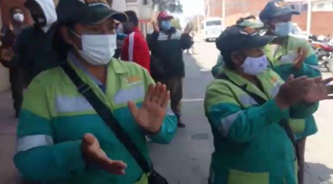 Trabajadores de EMAT se movilizan y piden el pago de sueldos y bonos