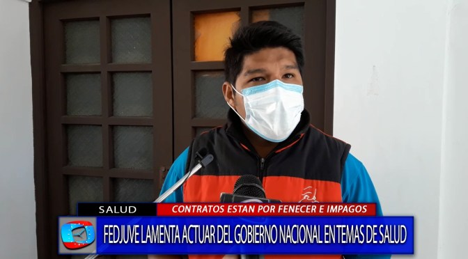 Dirigente de Fedjuve señala que contratos de médicos del área covid se terminan éste viernes.