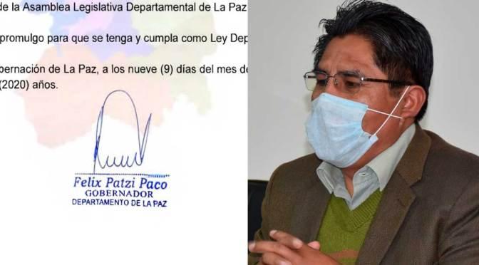 Patzi promulga ley que autoriza uso del dióxido de cloro contra el coronavirus