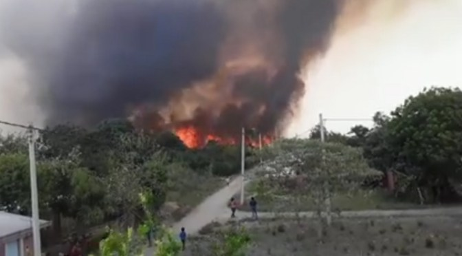Incendios forestales causan pánico a comunidades del municipio bermejeño