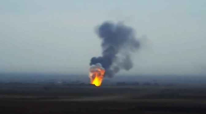 Armenia muestra imágenes del derribo de un helicóptero de Azerbaiyán