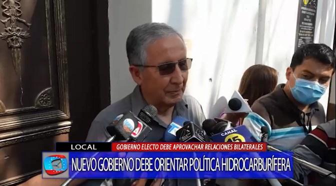 Hidrocarburos: Centeno plantea a nuevas autoridades retomar negociaciones con Paraguay