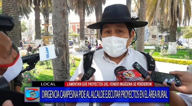 Campesinos reclaman por falta de atención de la Alcaldía a las comunidades